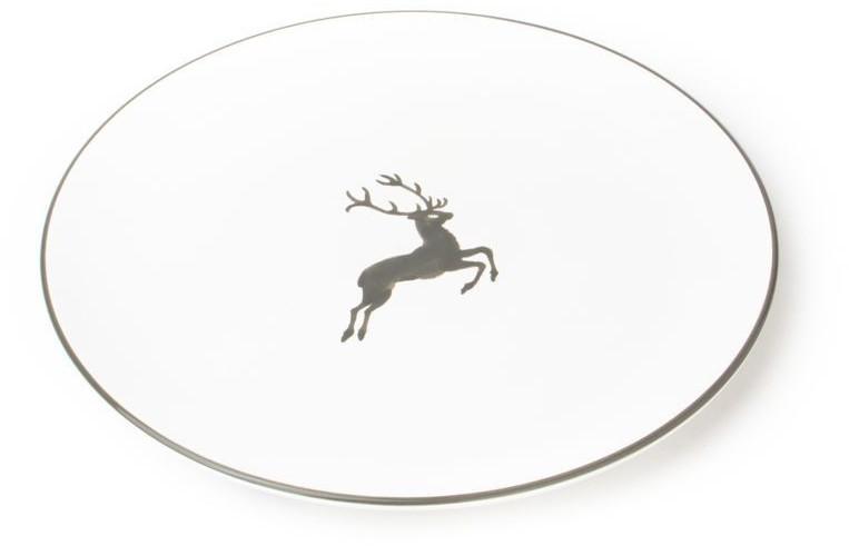 Gmundner Speiseteller Cup 28 cm grauer Hirsch