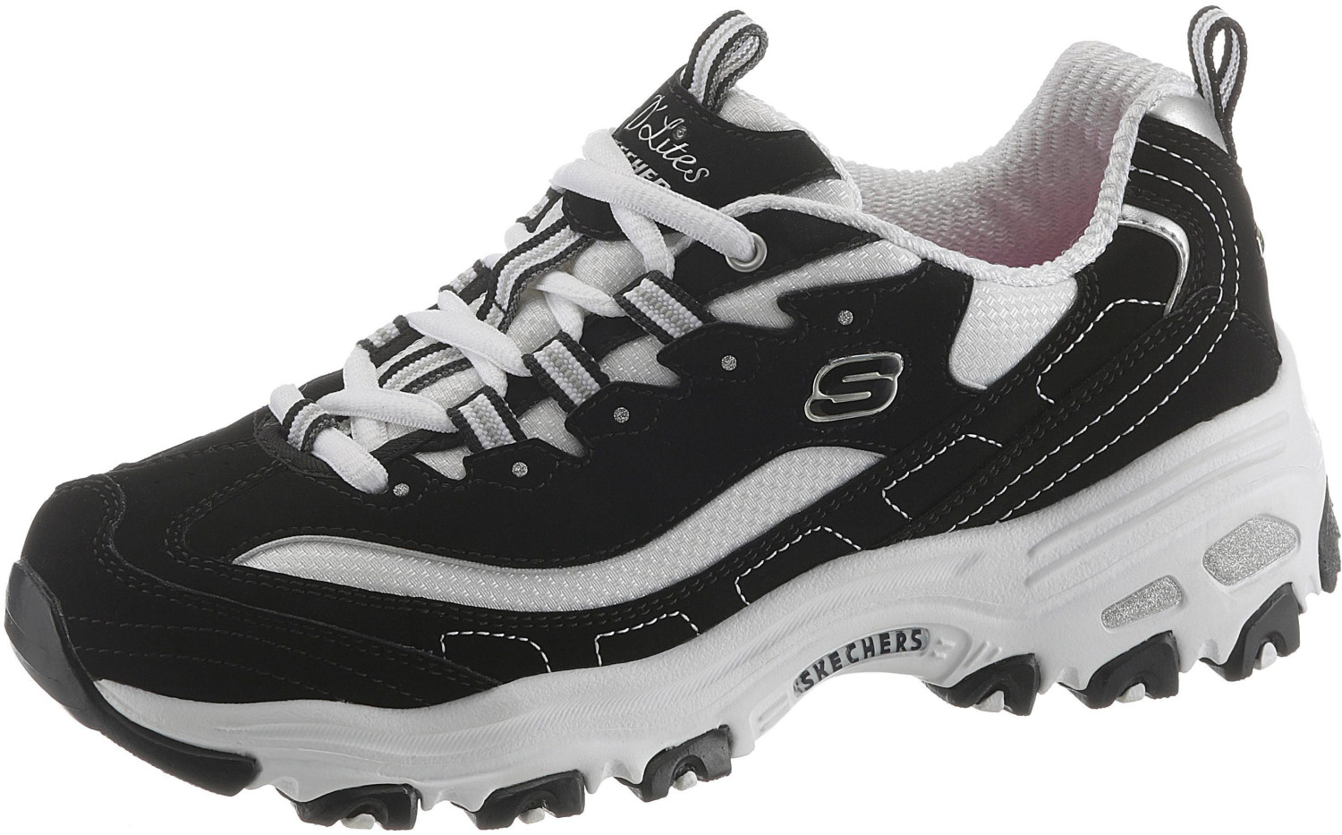 size 40 325d2 3c867 Skechers D Lites Biggest Fan Women black white