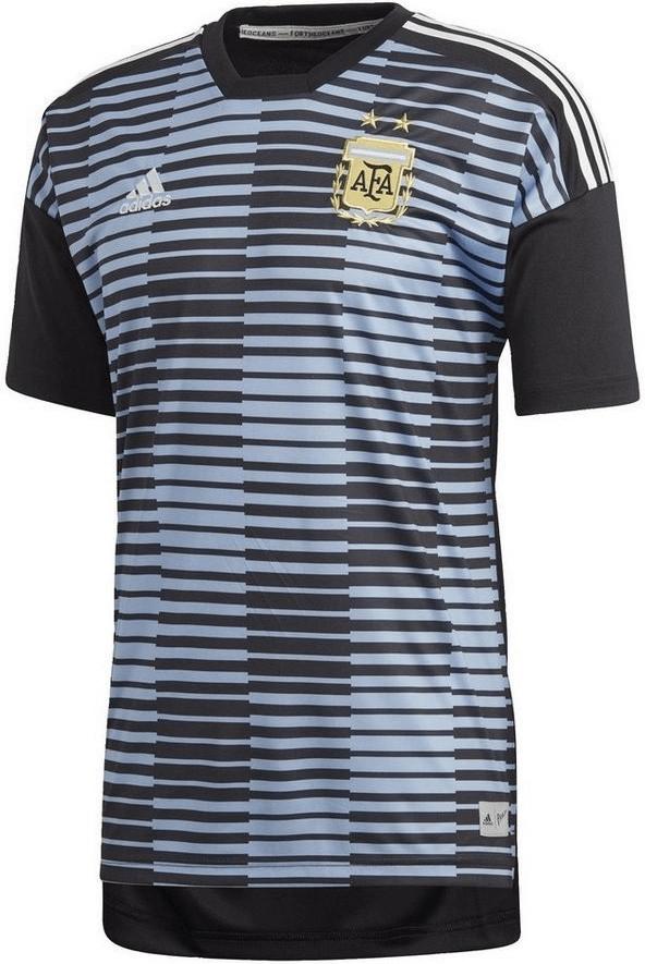 adidas Argentina de Home Pre Match Camiseta, Todo el año, Hombre, Color Clblue/Black, tamaño Extra-Small