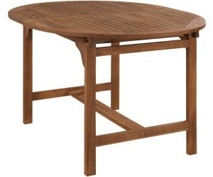 Merxx Gartentisch Oval 120 170x100cm Akazie Ausziehbar 23917 011