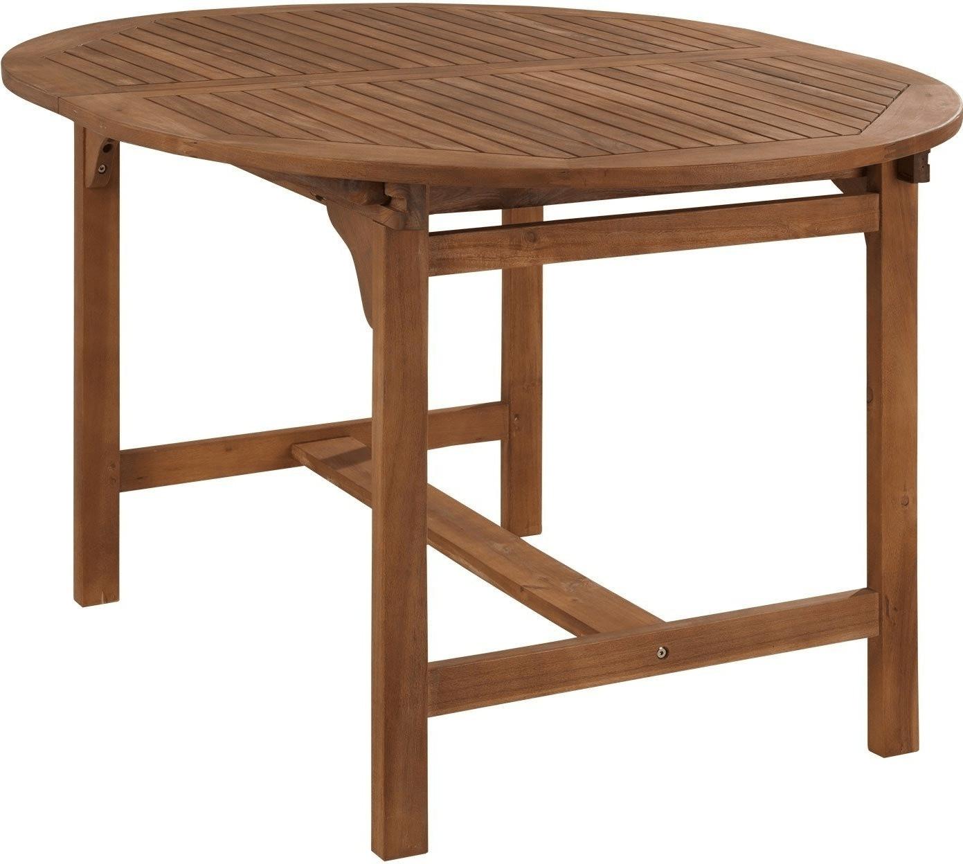 Merxx Gartentisch Oval 120/170x100cm Akazie Ausziehbar (23917 011)