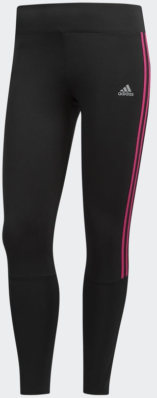Adidas Running 3 Stripes Tight Women black / re...