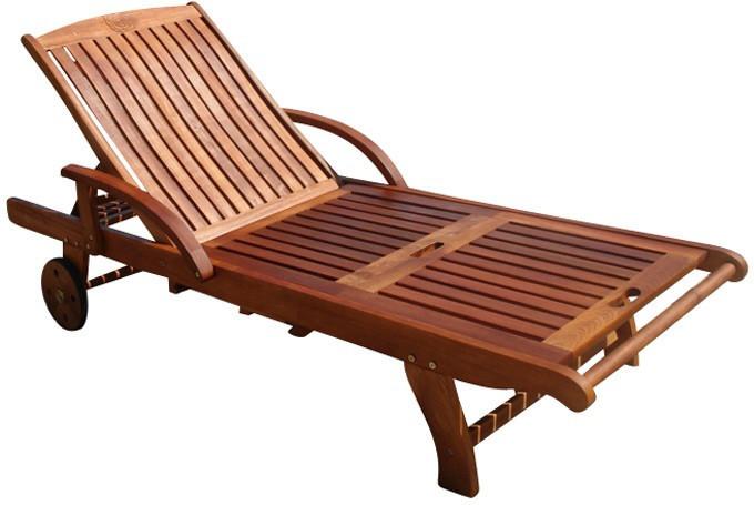 Indoba Sun Flair Holz-Gartenliege braun (IND-70...