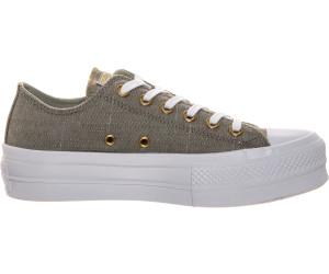 7cf90a4d16cf1b Buy Converse Chuck Taylor All Star Lift Washed Linen from £44.00 ...