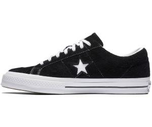 one star premium suede low top black