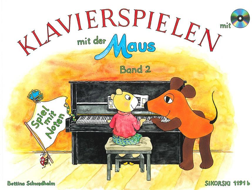 Sikorski Klavierspielen mit der Maus Band 2: Spiel mit Noten Ausgabe mit CD