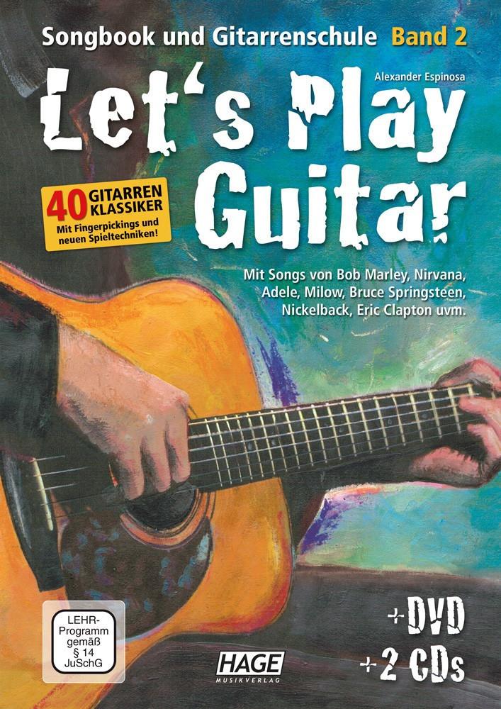 Hage Musikverlag Let´s Play Guitar Band 2 (mit 2 CDs und DVD)