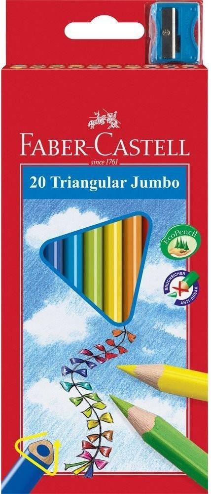 Faber Music Buntstifte Jumbo dreieckig 20er