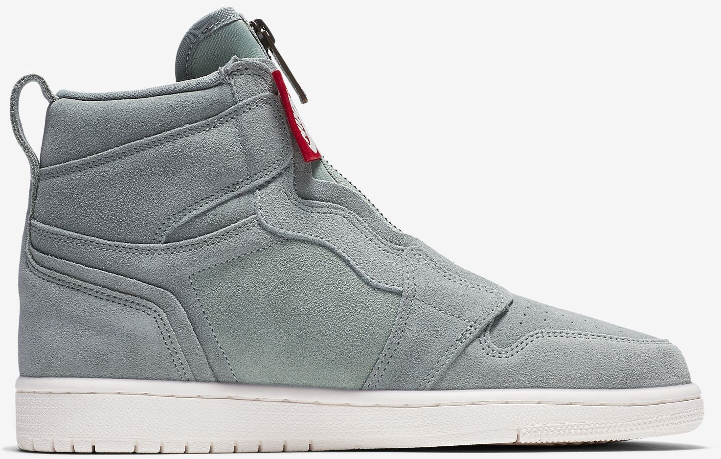 888a50f6f24 Nike Air Jordan 1 High Zip Wmns mica green sail metallic red bronze. à  partir de ...