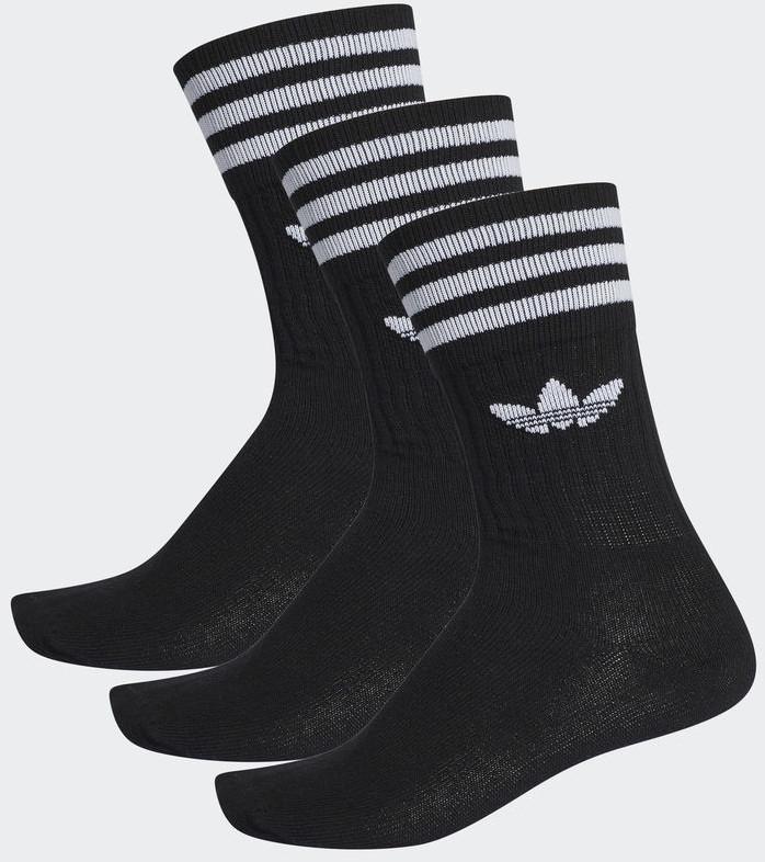 Adidas 3er Pack Solid Crew schwarz/weiß (S21490)