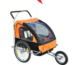 HomCom 2 in 1 Fahrradanhänger (orange/schwarz)