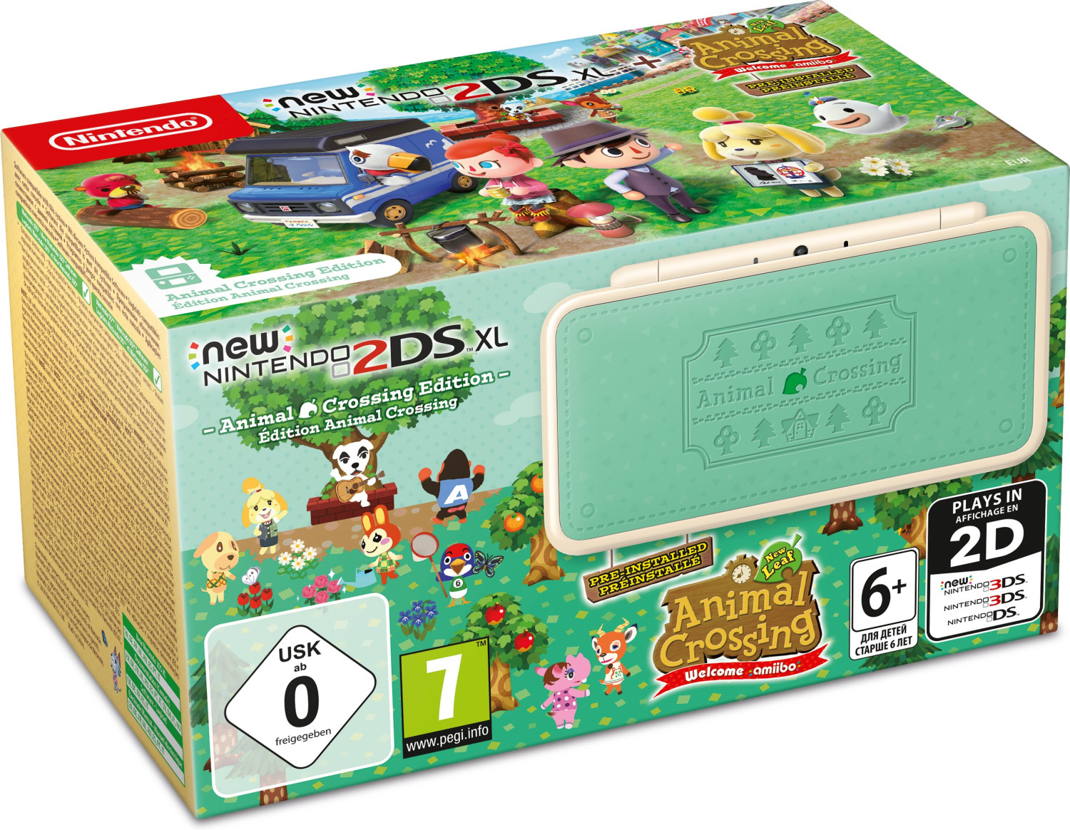 Nintendo New 2DS XL - Animal Crossing Edition + Animal Crossing: New Leaf - Welcome amiibo
