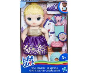 Image of Hasbro Baby Alive Cupcake Birthday Baby - Blond Hair (E0596)