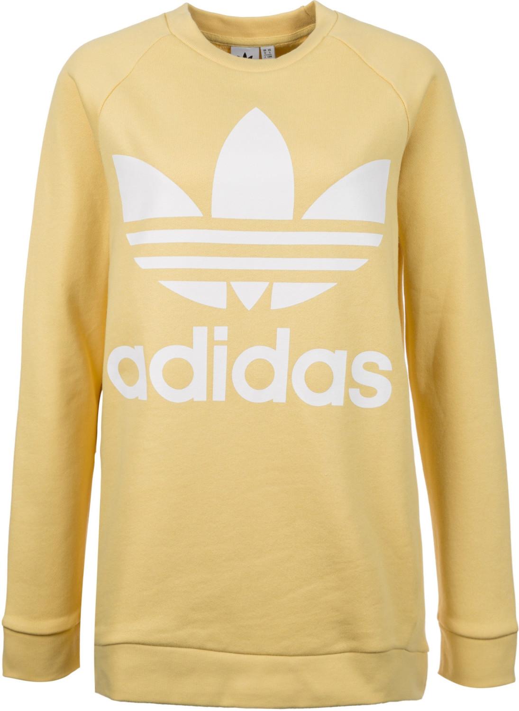 Adidas Sudadera de gran tamao Amarilla Mujer