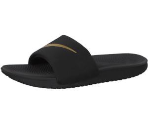 3d6f0e688df Buy Nike Kawa Slide GS black metallic gold from £20.00 – Best Deals ...