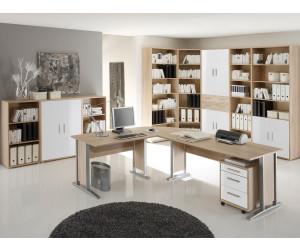 Möbel Eins Office Line Winkelkombination Eiche Sonomaweiß Ab 27900