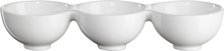 ASA GRANDE 3er Schale weiß 10,5 cm Höhe 6 cm