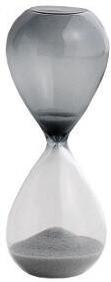 HAY Time S Sanduhr silber Schwarz