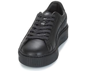 puma platform noir cuir