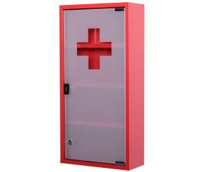 Waschmaschinenschrank Zum Abschließen : Homcom medizinschrank zum abschließen rot ab
