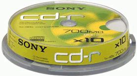 Sony CD-R 700MB 80min 48x 10er Spindel