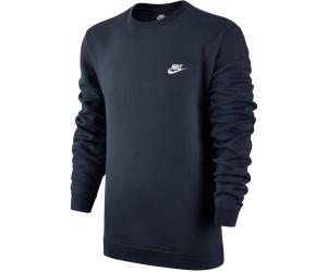Nike Crew FLC Club Sweater grigio mélange 80% Cotone 20