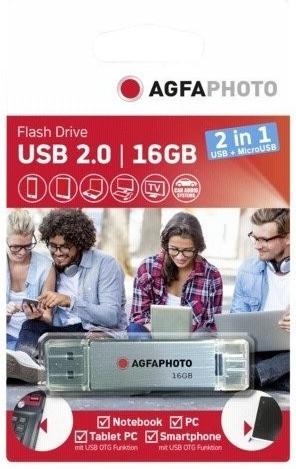 AgfaPhoto USB 2.0 micro USB OTG 16GB