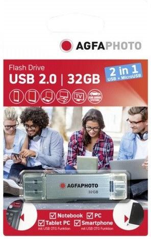 AgfaPhoto USB 2.0 micro USB OTG 32GB