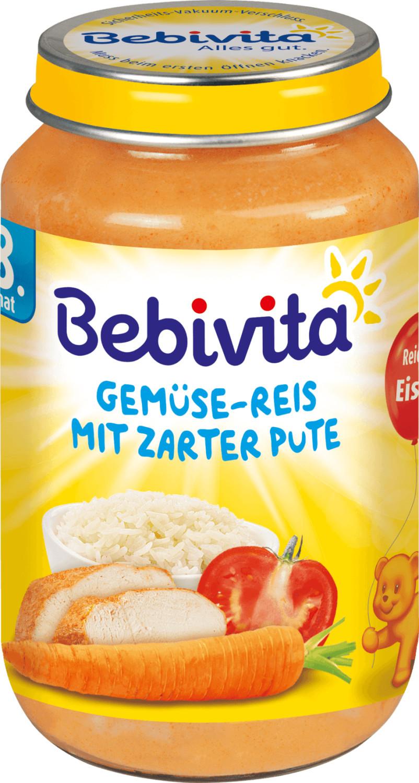 Bebivita Gemüse-Reis mit zarter Pute (220 g)