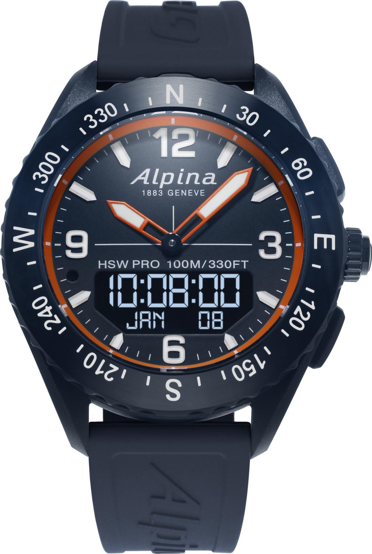 Image of Alpina AlpinerX Bluetooth Smartwatch Navy/Orange