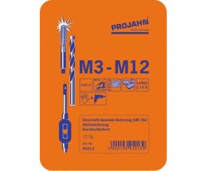 Projahn Filetage schneidzeug Phrase HSS-G 51tlg m3-m12