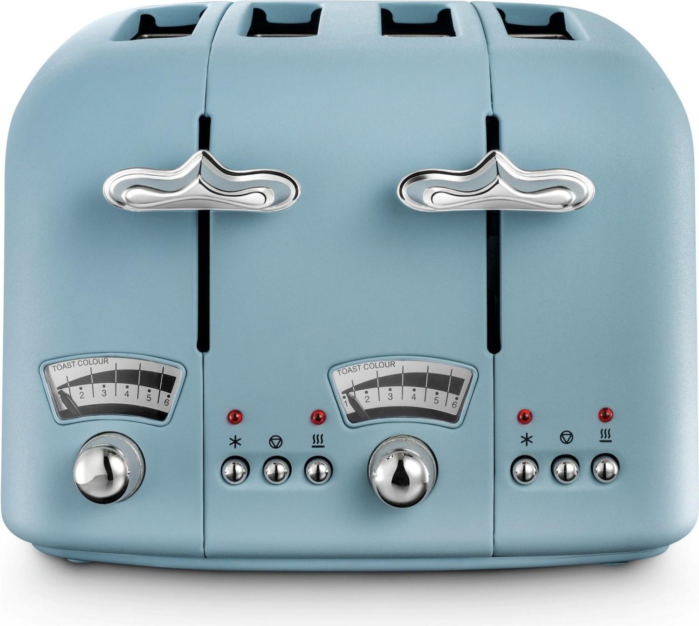Image of De'Longhi Argento 4 Slice Toaster Blue