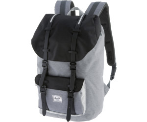 b65fc0c80b3 Herschel Little America Backpack. mid grey crosshatch black light grey  crosshatch