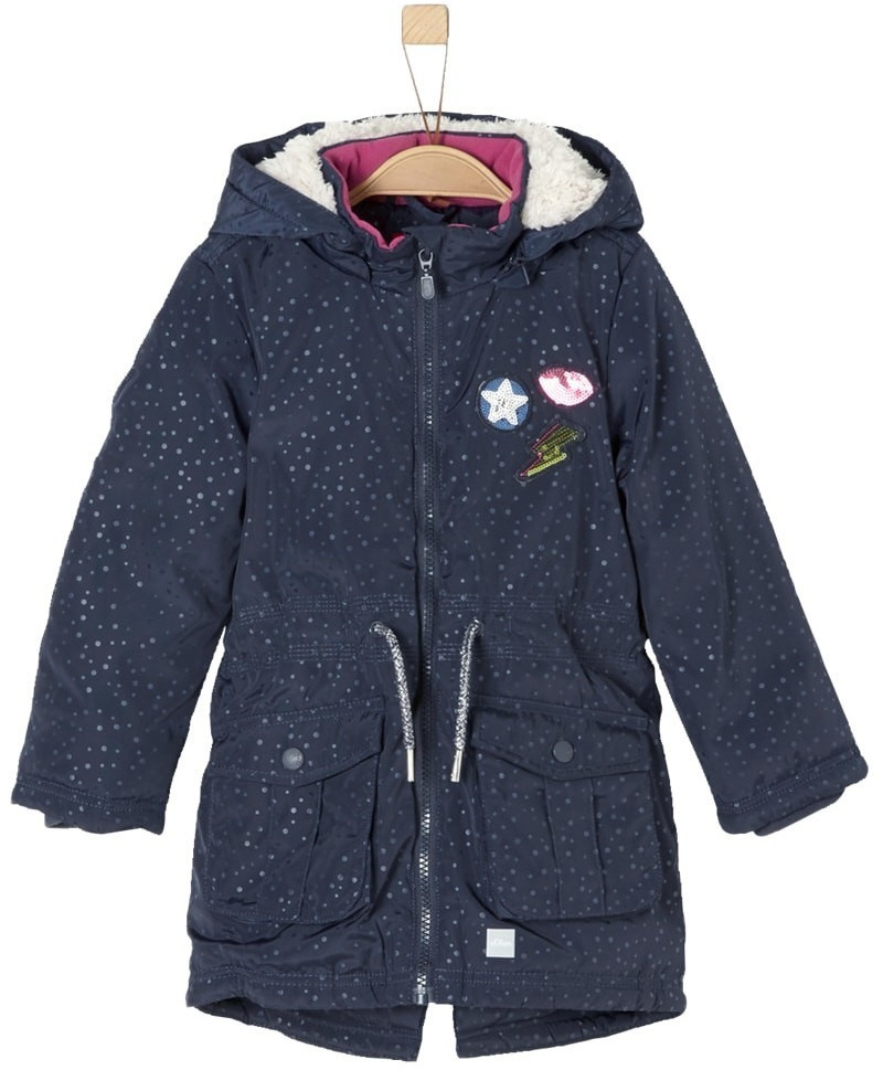 S.Oliver Parka with Patches navy blue