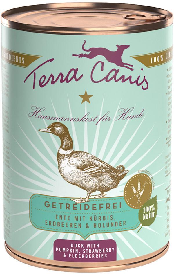 Terra Canis Ente mit Kürbis, Erdbeeren und Holu...