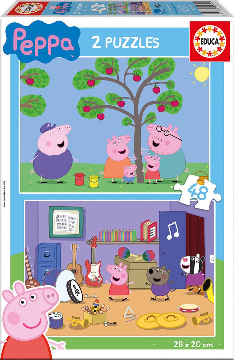 Puzzle 2 x 48 peppa pig Educa borras