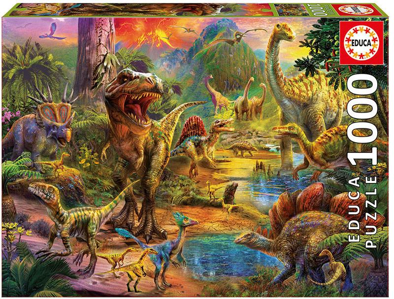 Educa Borrás Tierra de dinosaurios (1000 piezas)
