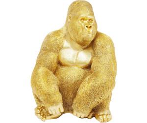KARE Deko Figur Gorilla XL gold