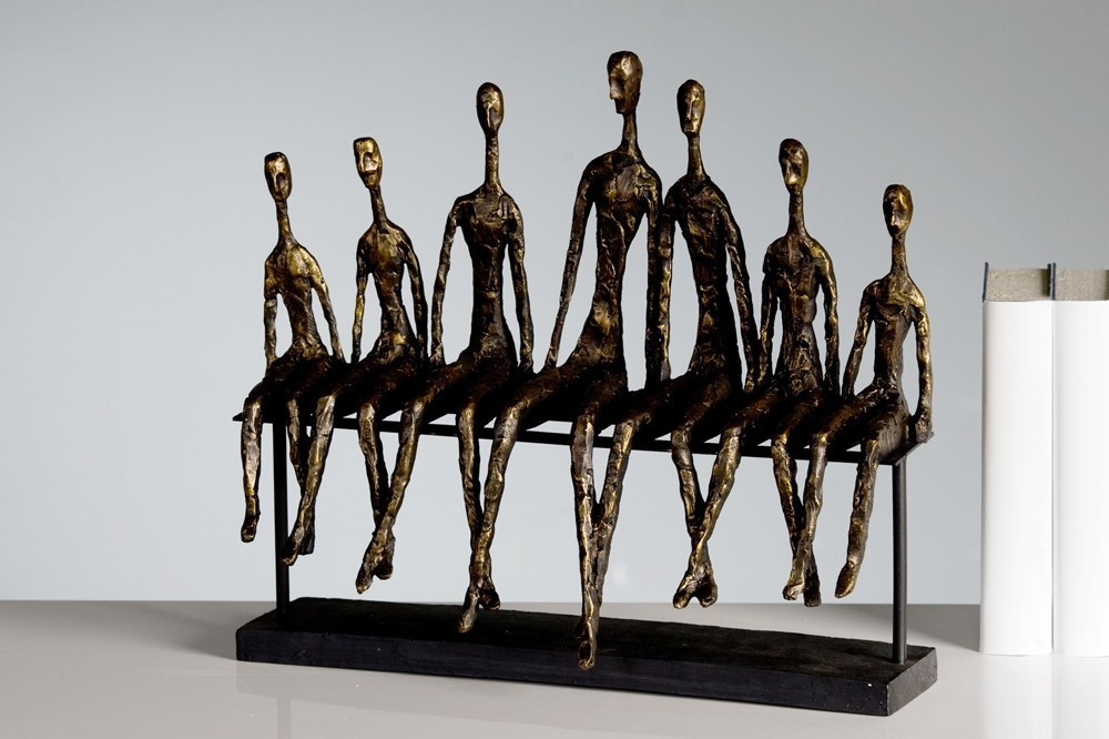 Casablanca Skulptur Community bronce