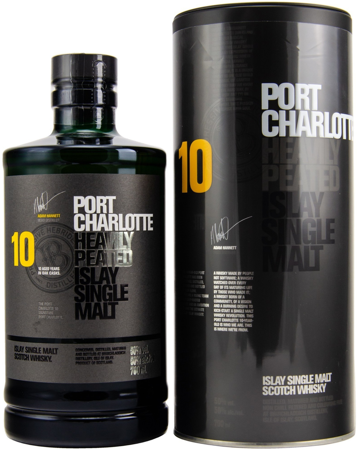 Bruichladdich Port Charlotte Heavily 10 Years P...