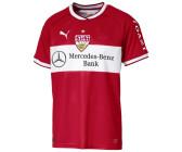 PUMA VfB Stuttgart Home Replica w.Sponsor Herren Fußball Shirt Weiss Ribbon Rot, Größe:L