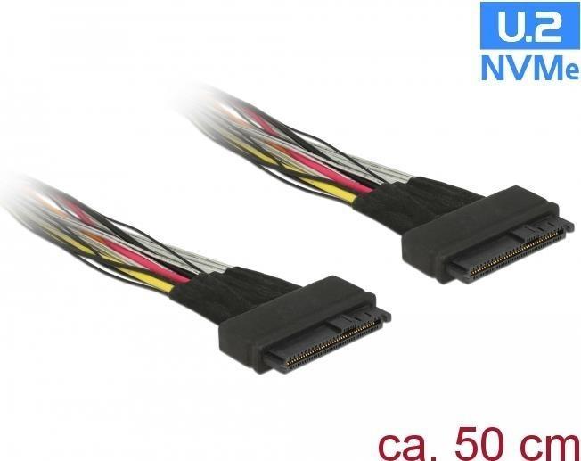 DeLock U.2 Buchse > U.2 Buchse Kabel 0,5m (84824)