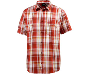 sale usa online san francisco closer at Jack Wolfskin Hot Chili Shirt Men volcano red checks ab 19 ...