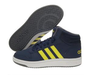 release date 020a9 aa8dd Adidas Hoops Mid 2.0 K dark blue shock yellow ftwr white