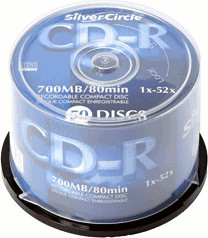 Silver Circle CD-R 700MB 80min 52x bedruckbar 5...