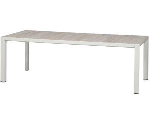 Siena Garden Silva Dining Tisch 220x100cm Weiss Grau Washed Grey