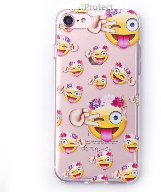 iProtect Softcase Emoji Design (iPhone 7/ 8) Hi...