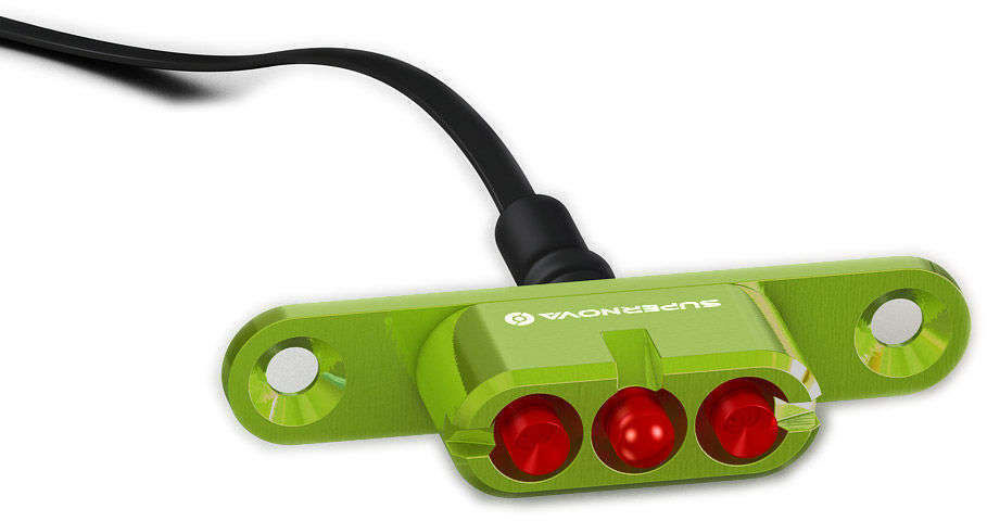 Supernova E3 Gepäckträger-Rücklicht 2 (grün)