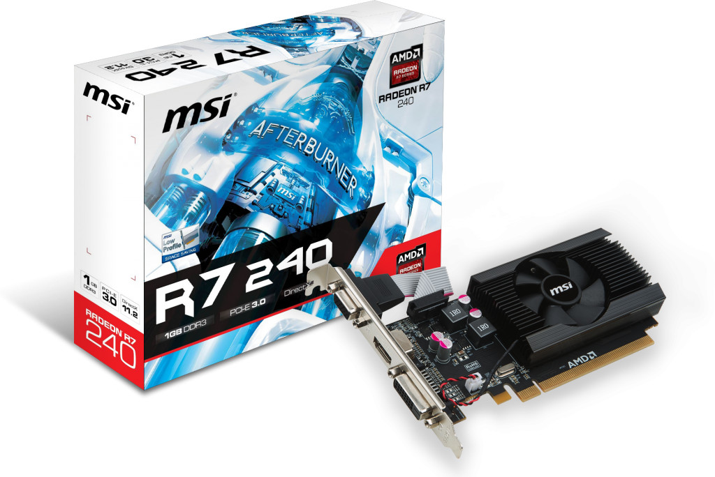 MSI R7 240 64B 1GB GDDR3