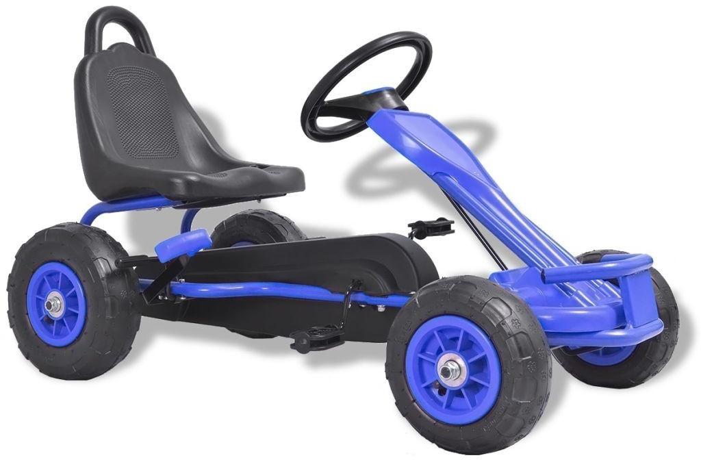 VidaXL Pedal Go-Kart mit Luftreifen blau
